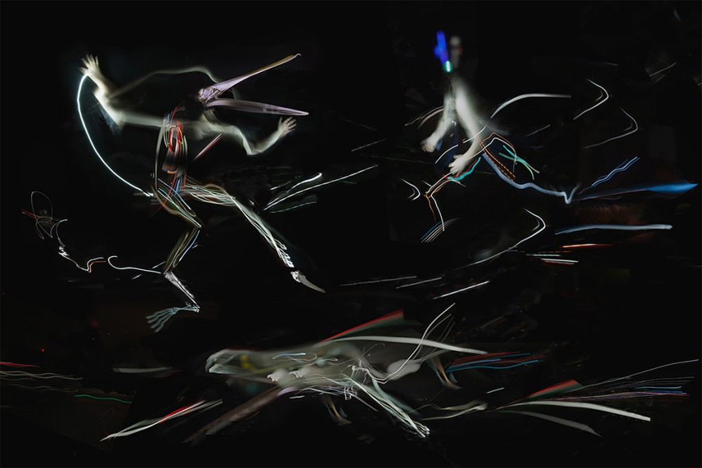 Felix Quintana's Three Figures In Motion, digital photography,