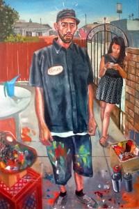 """Young Artist in Landscape,"" Sergio Teran"